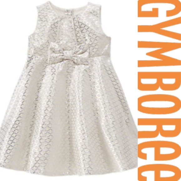 b626d4a99e Gymboree Silver Jacquard Bow A-line Occasion Dress. NWT. Gymboree.  29  55.  Size. 2T (Girl)